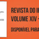 Revista do IHG-SJDR: Volume XIV 2020